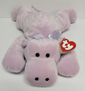 """TY Pillow Pal """"Tubby"""" Hippo, PRISTINE CLEAN Brand New TOTALLY SAFE for BABIES!!!"""