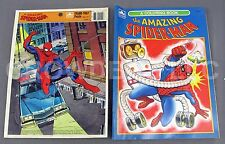 Vintage Amazing Spider-Man 12pc Frame-Tray Puzzle & Coloring Book Golden 1990