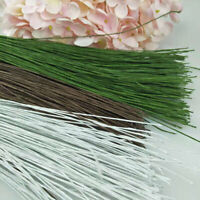 50Pcs Floral Decor Iron Wire Paper Covered Artificial Branch Twigs Iron Wire
