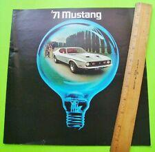 1971 FORD MUSTANG HUGE CATALOG Brochure 16-pgs MACH I Boss 351 CONVERTIBLE Xlnt+