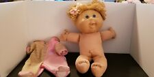 2005 Blonde Blue Eyed Cabbage Patch Doll With Outfit Worn