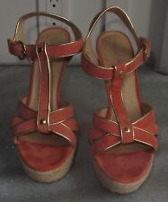 bbe6950a278 WOMENS ALDO CORAL PEACH GOLD HEELS SIZE 38 PLATFORMS SHOES COMFORTABLE SEXY  CHIC