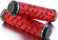 JetBlack Rivet MTB Locking Handlebar Grips Bike Lock-On Grip Jet RED