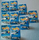 Hot Wheels (Lot Of 9) Vintage Blue Cards Camaro and Sol Aire CX4