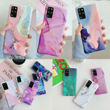 Colorful Marble Soft Silicone Case Cover For Samsung S21Ultra S20 A21S S10 S9 S8