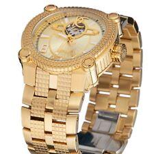 New Mens Renato Vulacn Champagne Swiss Sw200 Open Heart AUTOMATIC 46mm Watch