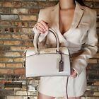 Kate Spade Devyn Medium Leather Neutral Multi Crossbody Duffel Bag Handbag NWT