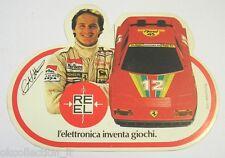 ADESIVO anni '80 /Sticker GILLES VILLENEUVE AUTO FERRARI REEL (cm 12 x 9)