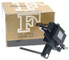 NIKON PS-4 SLIDE COPYING 35mm FILM CAMERA ATTACHMENT ADAPTER MINT FITS PB-4 PB-5