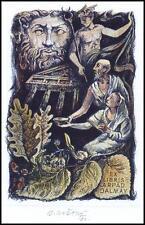 Kratky Bohumil 1980 Exlibris L1 Mythology Hermes Erotic Nude 49