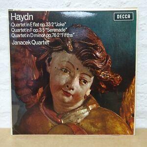 SXL 6093 HAYDN String Quartets no 2/5 JANACEK QUARTET DECCA STEREO LP EX
