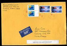 Estados Unidos 2007 comercial cubierta de correo aéreo a Reino Unido #c 10593