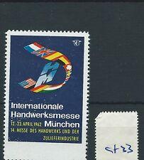 wbc. - CINDERELLA/POSTER - CF33 - EUROPE - INT HANDWERKSMESSE, MUNCHEN - 1962