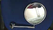 EMCO Wall Mounted Swivel arm Magnifying Shaving Bathroom Mirror Chrome Round