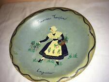 9'' hand painted wooden specialty munising bowl, provinces fran,caises