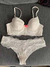 Victoria's Secret Body By Victoria Lined Demi Bra & Pant Set - 34B / Large