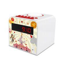 Radio réveil veilleuse enfant style Circus - rouge et blanc