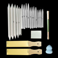 23pcs/set Blending Paper Stumps Art Drawing Stump Eraser Extender Sketch Tool UK