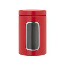 Barattolo Rotondo in Acciaio Inox 1,4 L Rosso - Brabantia