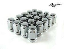 23 Pc JEEP WRANGLER CHROME SOLID CUSTOM BULGE ACORN WHEEL LUG NUTS # AP-1904