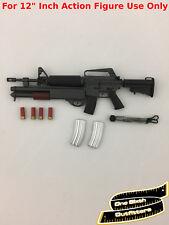 1/6 M16 Assault Rifle Shotgun Weapon Army Punisher Matrix Hot Toys Machine Gun