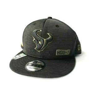New Era Houston Texans NFL 9Fifty 2020 Salute to Service Snapback Hat Black OSFM