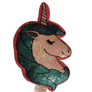Unicorn For Girls Reversible Flip Sequin Designer Multicolor Plush Pillow