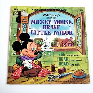 The Story of Mickey Mouse, Brave Little Tailor Walt Disney Book NO RECORD
