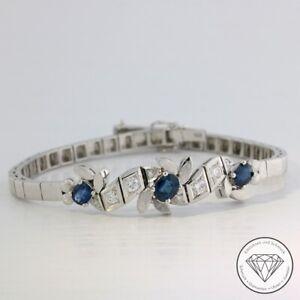 Wert 5.600,-  Fabelhaftes 0,50 Ct Saphir Brillant Armband 750 / 18 Kt Gold xxyy