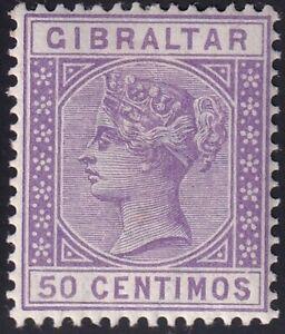 UK STAMP Gibraltar  1889 Queen Victoria, 1819-1901 50c MH/OG