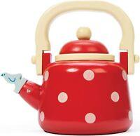 Le Toy Van HONEYBAKE DOTTY KETTLE Wooden Kitchen Cafe Tea Set Child/Kid BN