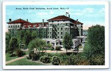 Postcard MI 1933 Battle Creek Sanitarium Annex Vtg View J5