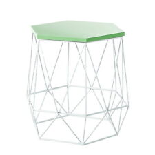 Métal Table d'appoint basse DEPOSE de chevet Vert Blanc