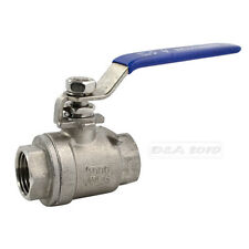 "1/2"" NPT Female 304 Stainless Steel Full Port Ball Valve Vinyl Handle Hot"