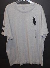 Polo Ralph Lauren Big and Tall Mens Gray Big Polo Crewneck T-Shirt NWT Size 1XB