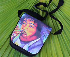 "Pop Art Jimi Hendrix small purse with interchangable flap. 9""x 7"". Famous Music"