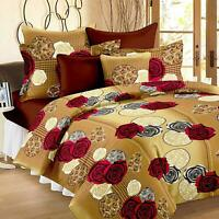 Indian Checks Bed Cover Sheet Modern Decor Bedding Throw Coverlet Set