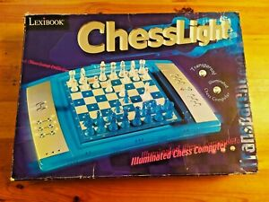 JEU  D'ECHECS ELECTRONIQUE LEXIBOOK COMPUTER CHESS LIGHT COMPLET  FONCTIONNE