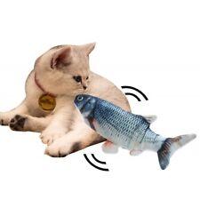 Electric Wagging Fish Cat Toys Pet Kicker Grass Catnip Doll USB Charging Hot Set