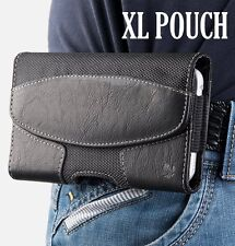 For iPhone Xs Max 7 8 Plus Suede Pouch Holder Holster Belt Clip Loop Case Cover