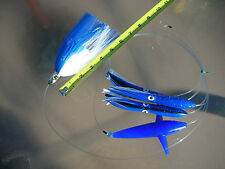 New Pro-Rigged Ilander Tracker Styled Blue and White Bird/Squid Daisy Chain