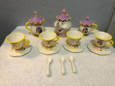 New listing Beauty And The Beast Talking Mrs Potts Childrens Tea Set