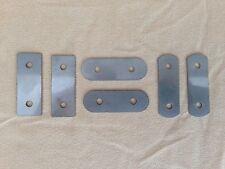 4 Porte Morris Minor Front Door Striker Plaque & Loquet PIN Shim Kit inoxydable 1 mm