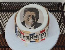 JKF - Vintage - Kennedy for President - 1960 Election Hat with Band + Top Photo