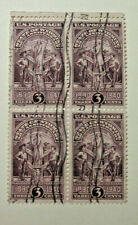 1940 State of Wyoming 50th Anniversary 3 Cent Block of four Stamps