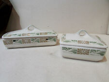 2 anciennes boites a savon faience luneville modern style