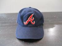 VINTAGE Atlanta Braves Hat Cap Blue Red MLB Baseball Strap Back Mens 90s