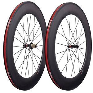 CSC carbon wheels 88mm deep 23mm width clincher road for 700C Racing bike