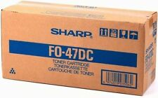 Sharp GENUINE/ORIGINAL FO-47DC Black Printer/Copier Toner Cartridge Unit FO47DC
