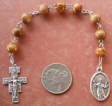 Handmade St Joseph of Cupertino Chaplet + Test Takers Rosary + Round Olive Wood